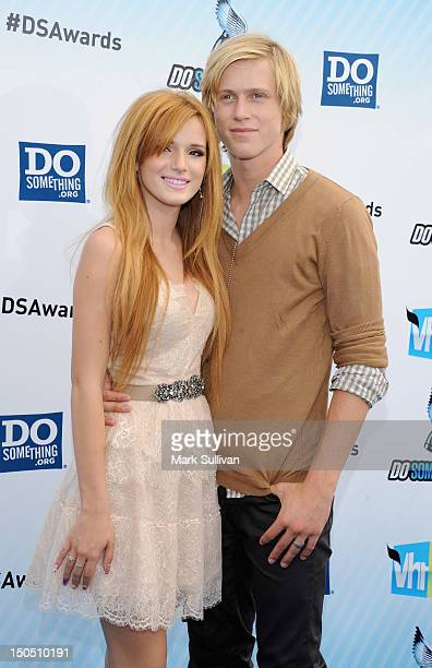 Actors Bella Throne and Tristan Klier arrive for the 2012 Do Something Awards on August 19 2012 in Santa Monica California