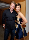 Actors Bellamy Young and Dash Mihok attend the Danny Seo AmericaShare Party presented by Movado at L'Ermitage Beverly Hills Hotel on May 20 2014 in...