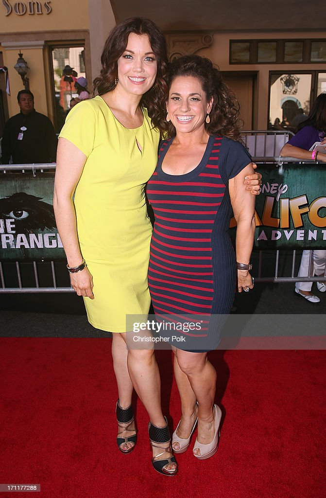 Actors Bellamy Young and Marissa Jaret Winokur attend The World Premiere of Disney/Jerry Bruckheimer Films' 'The Lone Ranger' at Disney California Adventure Park on June 22, 2013 in Anaheim, California.