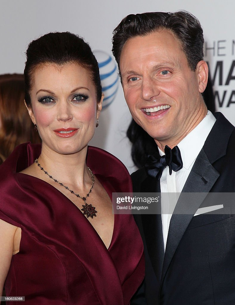 Actors Bellamy Young (L) and Tony Goldwyn attend the 44th NAACP Image Awards at the Shrine Auditorium on February 1, 2013 in Los Angeles, California.
