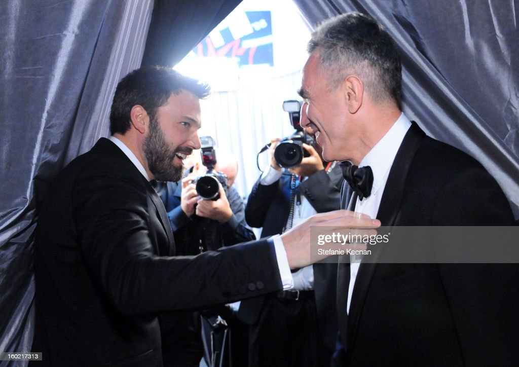 Actors Ben Affleck(L) and Daniel Day-Lewis attend the 19th Annual Screen Actors Guild Awards at The Shrine Auditorium on January 27, 2013 in Los Angeles, California. (Photo by Stefanie Keenan/WireImage) 23116_025_2093.jpg