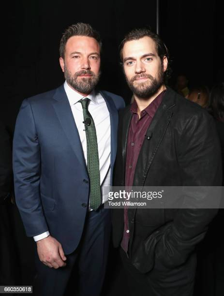 "Actors Ben Affleck and Henry Cavill at CinemaCon 2017 Warner Bros Pictures Invites You to ""The Big Picture"" an Exclusive Presentation of our Upcoming..."