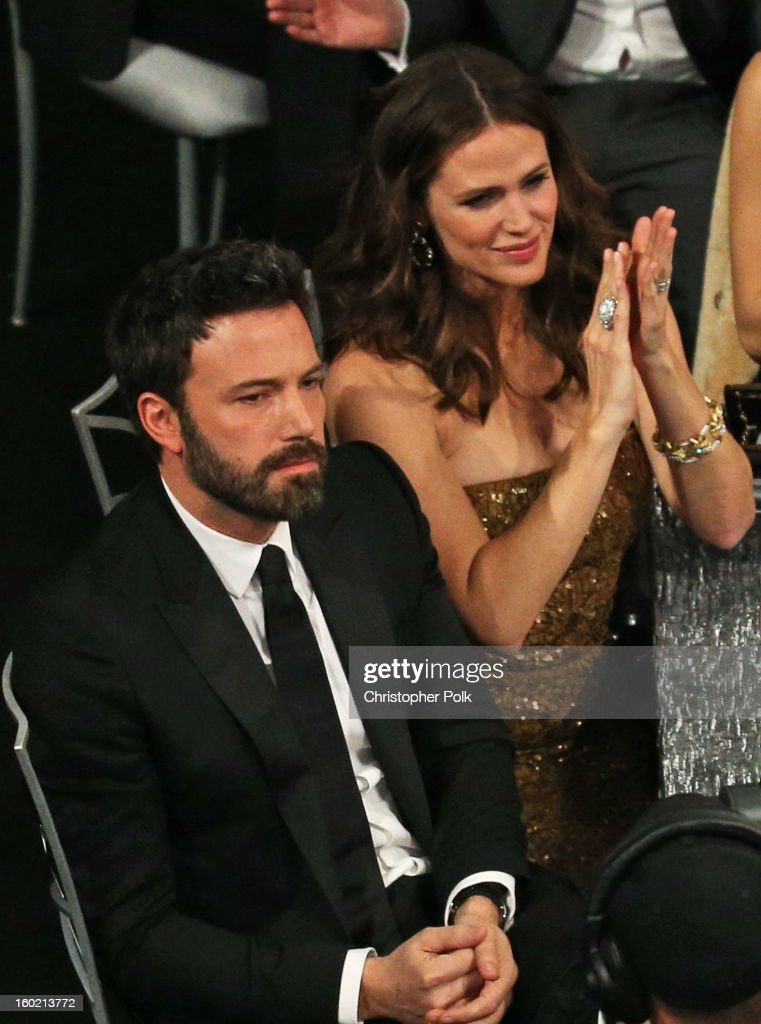 Actors Ben Affleck (L) and Jennifer Garner attend the 19th Annual Screen Actors Guild Awards at The Shrine Auditorium on January 27, 2013 in Los Angeles, California. (Photo by Christopher Polk/WireImage) 23116_012_1410.jpg