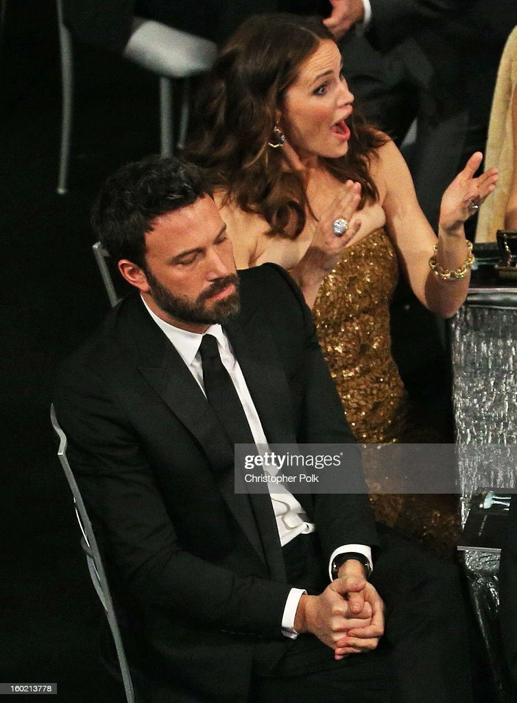 Actors Ben Affleck (L) and Jennifer Garner attend the 19th Annual Screen Actors Guild Awards at The Shrine Auditorium on January 27, 2013 in Los Angeles, California. (Photo by Christopher Polk/WireImage) 23116_012_1413.jpg