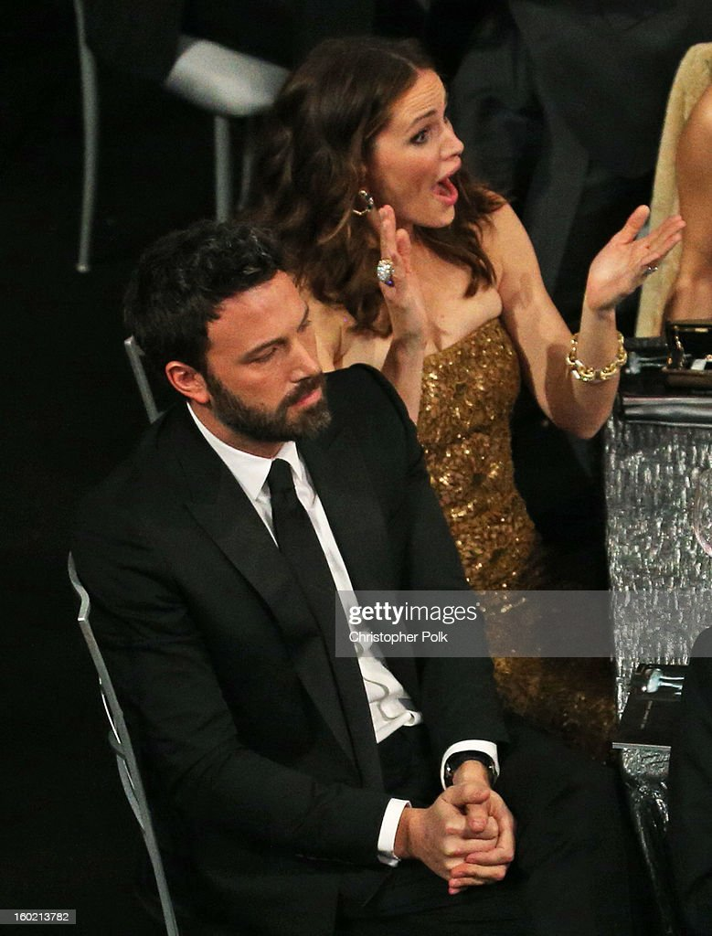 Actors Ben Affleck (L) and Jennifer Garner attend the 19th Annual Screen Actors Guild Awards at The Shrine Auditorium on January 27, 2013 in Los Angeles, California. (Photo by Christopher Polk/WireImage) 23116_012_1414.jpg