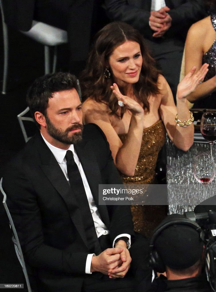 Actors Ben Affleck (L) and Jennifer Garner attend the 19th Annual Screen Actors Guild Awards at The Shrine Auditorium on January 27, 2013 in Los Angeles, California. (Photo by Christopher Polk/WireImage) 23116_012_1454.JPG