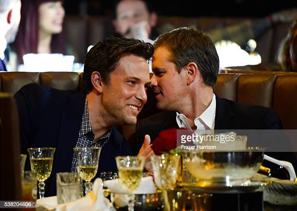 Actors Ben Affleck and Matt Damon attend Spike TV's 10th Annual Guys Choice Awards at Sony Pictures Studios on June 4 2016 in Culver City California