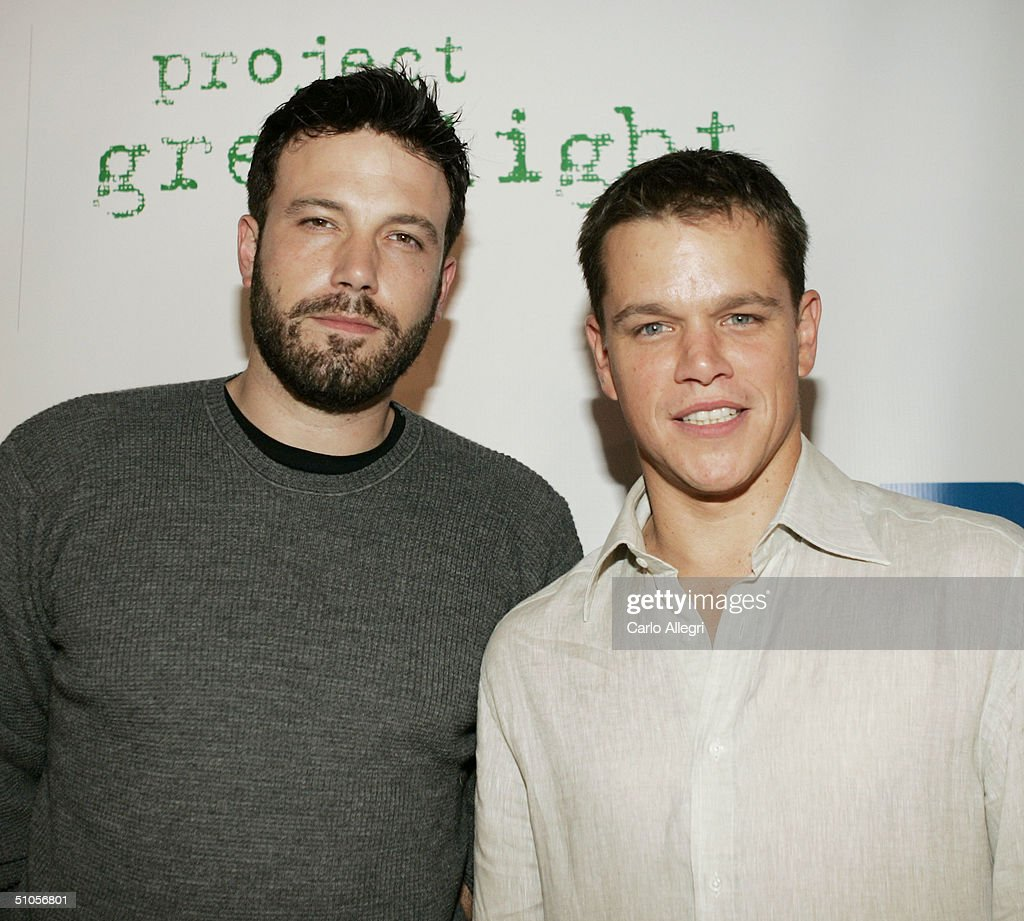 Actors Ben Affleck (left) and Matt Damon (right) attend the announcement of the winners of this year's Project Greenlight on July 13, 2004 at The Highlands, in Hollywood, California.