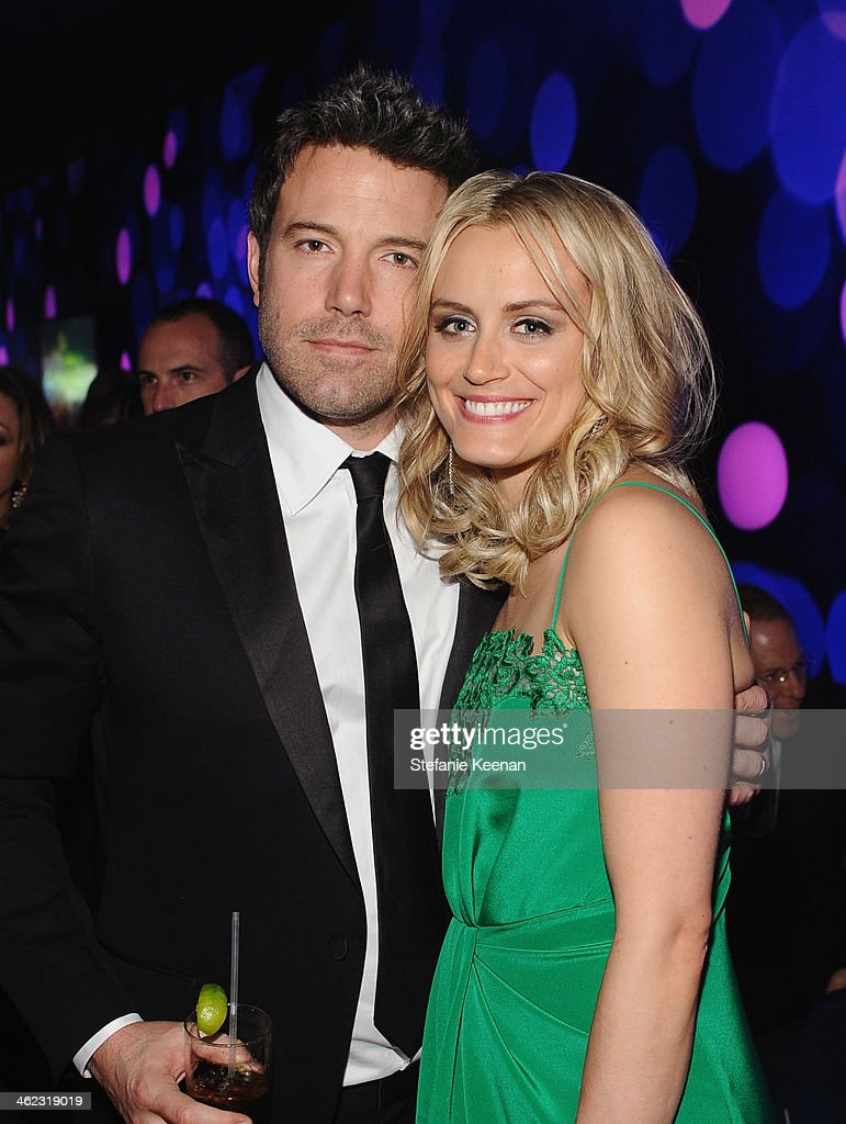 Actors Ben Affleck and Taylor Schilling attend the 2014 InStyle And Warner Bros. 71st Annual Golden Globe Awards Post-Party at The Beverly Hilton Hotel on January 12, 2014 in Beverly Hills, California.