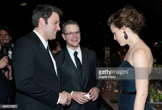Actors Ben Affleck Matt Damon and Jennifer Garner attend the 20th Annual Screen Actors Guild Awards at The Shrine Auditorium on January 18 2014 in...