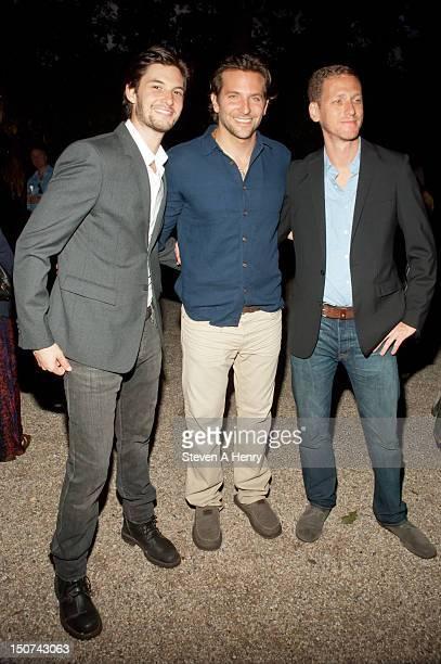Actors Ben Barnes Bradley Cooper and filmmaker Brian Klugman attend 'The Words' screening at Goose Creek on August 25 2012 in East Hampton New York
