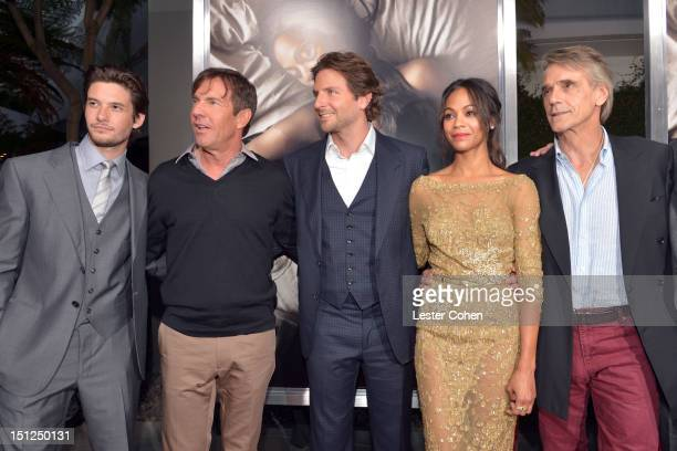 Actors Ben Barnes Dennis Quaid Bradley Cooper Zoe Saldana and Jeremy Irons arrive at the Los Angeles premiere of 'The Words' at ArcLight Cinemas on...