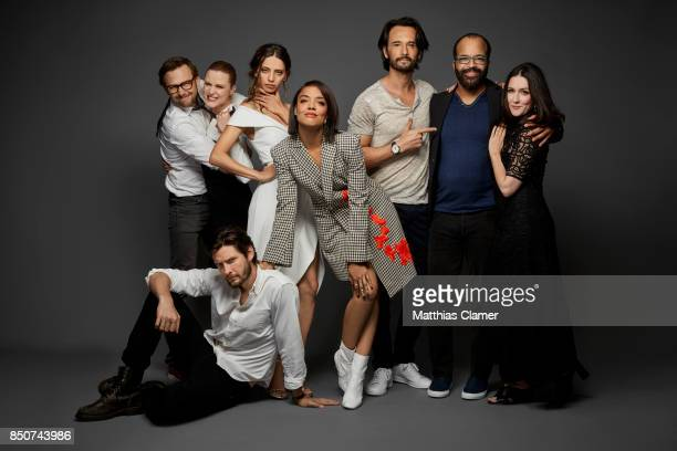 Actors Ben Barnes Jimmi Simpson Evan Rachel Wood Angela Sarafyan Tessa Thompson Rodrigo Santoro Jeffrey Wright and Shannon Woodward from Westworld...