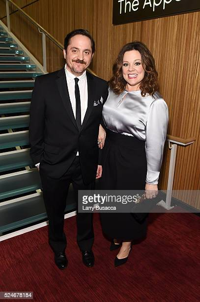 Actors Ben Falcone and Melissa McCarthy attend 2016 Time 100 Gala Time's Most Influential People In The World red carpet at Jazz At Lincoln Center at...