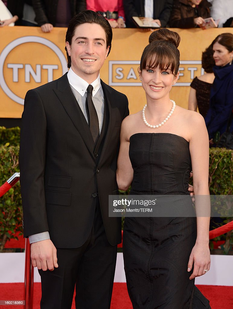 Actors Ben Feldman and Michelle Mulitz attend the 19th Annual Screen Actors Guild Awards at The Shrine Auditorium on January 27, 2013 in Los Angeles, California. (Photo by Jason Merritt/WireImage) 23116_014_1058.jpg