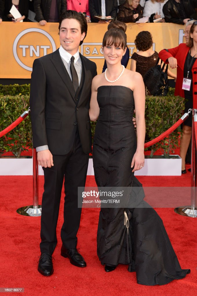 Actors Ben Feldman and Michelle Mulitz attend the 19th Annual Screen Actors Guild Awards at The Shrine Auditorium on January 27, 2013 in Los Angeles, California. (Photo by Jason Merritt/WireImage) 23116_014_1060.jpg
