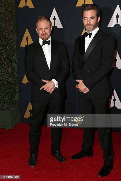 Actors Ben Foster and Chris Pine attend the Academy of Motion Picture Arts and Sciences' 8th annual Governors Awards at The Ray Dolby Ballroom at...