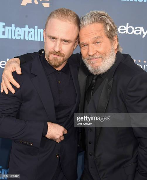 Actors Ben Foster and Jeff Bridges attend The 22nd Annual Critics' Choice Awards at Barker Hangar on December 11 2016 in Santa Monica California