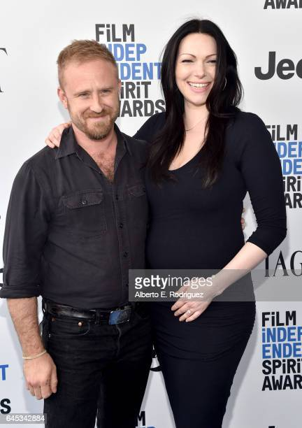 Actors Ben Foster and Laura Prepon attend the 2017 Film Independent Spirit Awards at the Santa Monica Pier on February 25 2017 in Santa Monica...