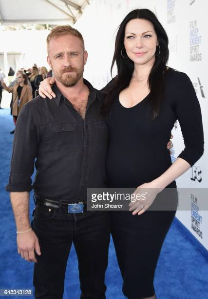 Actors Ben Foster and Laura Prepon attend the 2017 Film Independent Spirit Awards at Santa Monica Pier on February 25 2017 in Santa Monica California