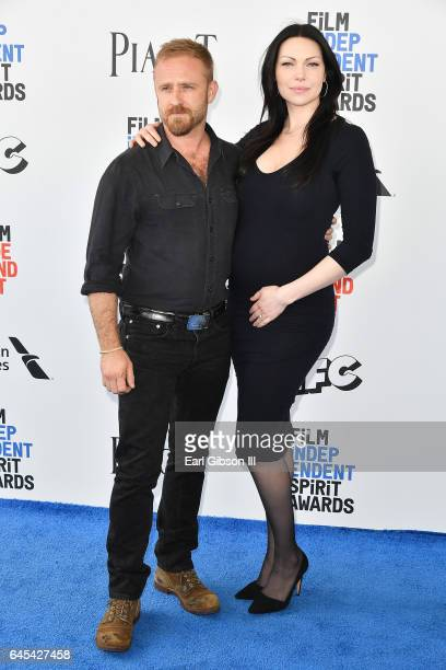 Actors Ben Foster and Laura Prepon attend the 2017 Film Independent Spirit Awards on February 25 2017 in Santa Monica California