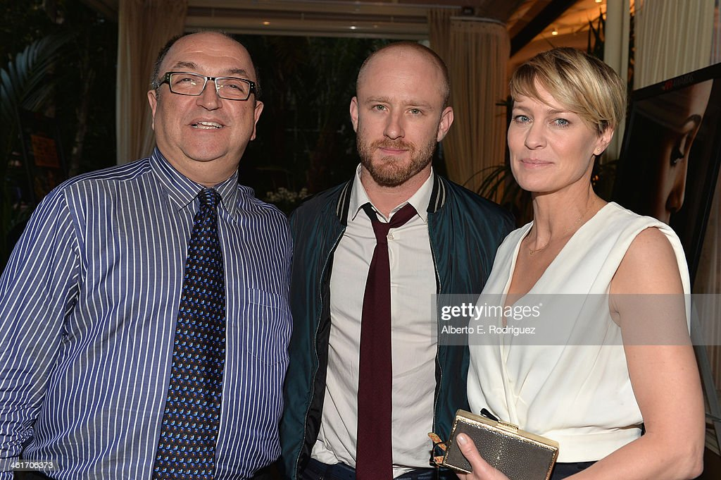 Actors Ben Foster (L) and <a gi-track='captionPersonalityLinkClicked' href=/galleries/search?phrase=Robin+Wright&family=editorial&specificpeople=207147 ng-click='$event.stopPropagation()'>Robin Wright</a> attend the 14th annual AFI Awards Luncheon at the Four Seasons Hotel Beverly Hills on January 10, 2014 in Beverly Hills, California.