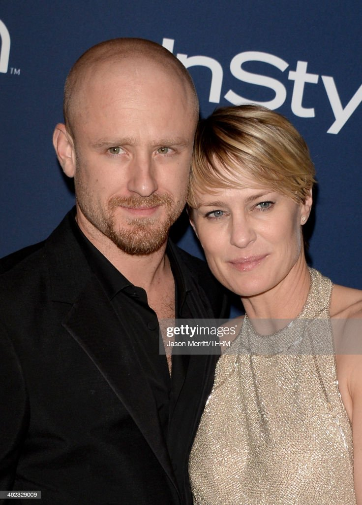 Actors <a gi-track='captionPersonalityLinkClicked' href=/galleries/search?phrase=Ben+Foster+-+Actor&family=editorial&specificpeople=4180592 ng-click='$event.stopPropagation()'>Ben Foster</a> (L) and <a gi-track='captionPersonalityLinkClicked' href=/galleries/search?phrase=Robin+Wright&family=editorial&specificpeople=207147 ng-click='$event.stopPropagation()'>Robin Wright</a>, winner of Best Actress in a Television Series - Drama for 'House of Cards,' attend the 2014 InStyle and Warner Bros. 71st Annual Golden Globe Awards Post-Party on January 12, 2014 in Beverly Hills, California.