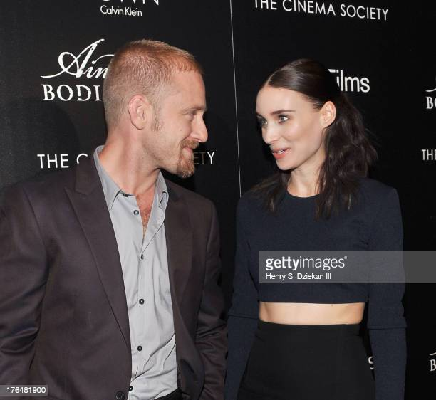 Actors Ben Foster and Rooney Mara attend the Downtown Calvin Klein with The Cinema Society screening of IFC Films' 'Ain't Them Bodies Saints' at...