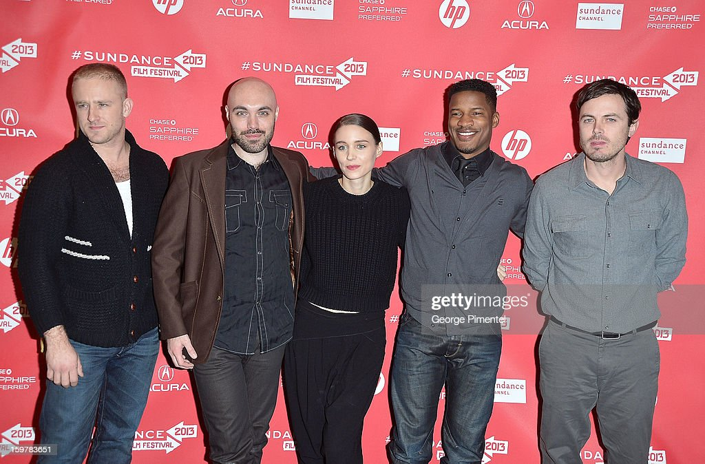 Actors Ben Foster, David Lowery, <a gi-track='captionPersonalityLinkClicked' href=/galleries/search?phrase=Rooney+Mara&family=editorial&specificpeople=5669181 ng-click='$event.stopPropagation()'>Rooney Mara</a>, <a gi-track='captionPersonalityLinkClicked' href=/galleries/search?phrase=Nate+Parker+-+Actor&family=editorial&specificpeople=14598637 ng-click='$event.stopPropagation()'>Nate Parker</a> and <a gi-track='captionPersonalityLinkClicked' href=/galleries/search?phrase=Casey+Affleck&family=editorial&specificpeople=1539212 ng-click='$event.stopPropagation()'>Casey Affleck</a> attend the 'Aint Them Bodies Saints' premiere at Eccles Center Theatre during the 2013 Sundance Film Festival on January 20, 2013 in Park City, Utah.