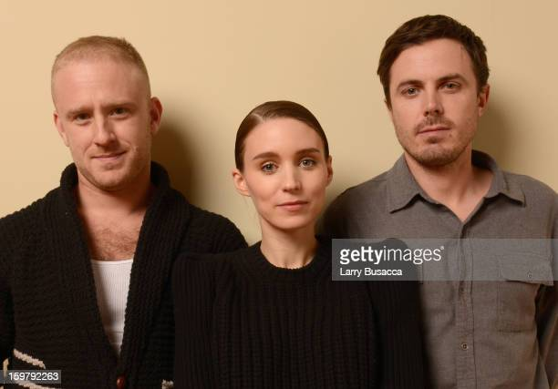 Actors Ben Foster Rooney Mara and Casey Affleck pose for a portrait during the 2013 Sundance Film Festival at the Getty Images Portrait Studio at...