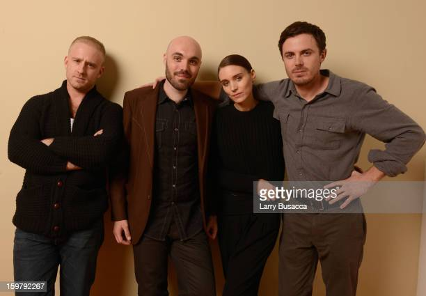 Actors Ben Foster Rooney Mara writer/director David Lowery and actor Casey Affleck pose for a portrait during the 2013 Sundance Film Festival at the...