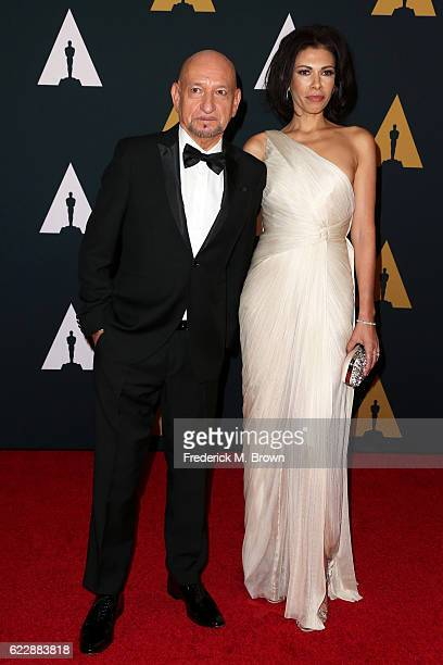 Actors Ben Kingsley and Daniela Lavender attend the Academy of Motion Picture Arts and Sciences' 8th annual Governors Awards at The Ray Dolby...