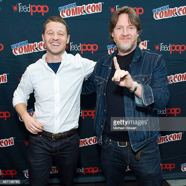 Actors Ben McKenzie and Donal Logue attend Fox Network's 'Gotham' press room at 2014 New York Comic Con Day 4 at Jacob Javitz Center on October 12...