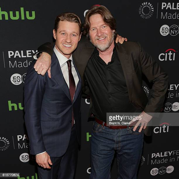 Actors Ben McKenzie and Donal Logue attend the 'Gotham' panel discussion and screening during PaleyFest New York 2016 held at The Paley Center for...