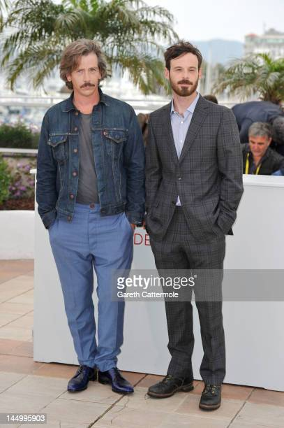 Actors Ben Mendelsohn and Scoot McNairy pose at the 'Killing Them Softly' photocall during the 65th Annual Cannes Film Festival at Palais des...