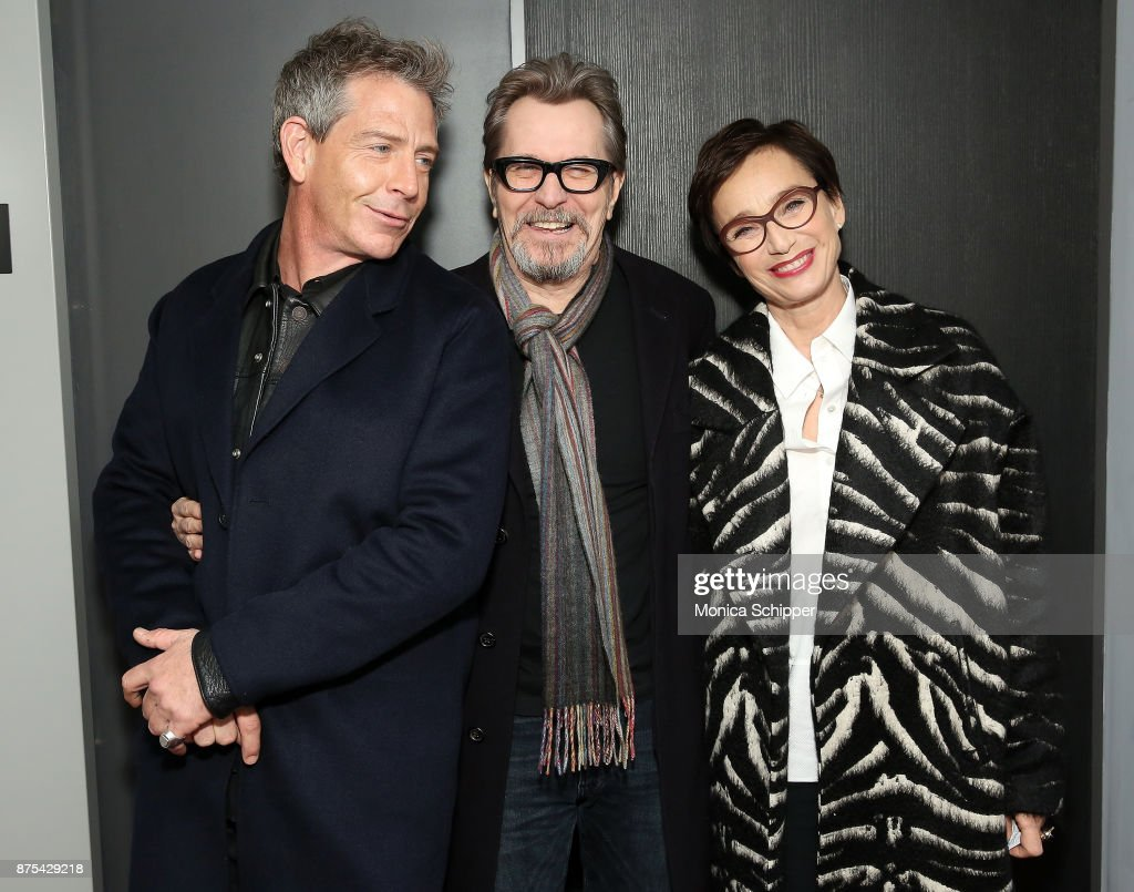 Actors Ben Mendelsohn, Gary Oldman, and Kristin Scott Thomas attend SAG-AFTRA Foundation Conversations 'Darkest Hour' at SAG-AFTRA Foundation Robin Williams Center on November 17, 2017 in New York City.