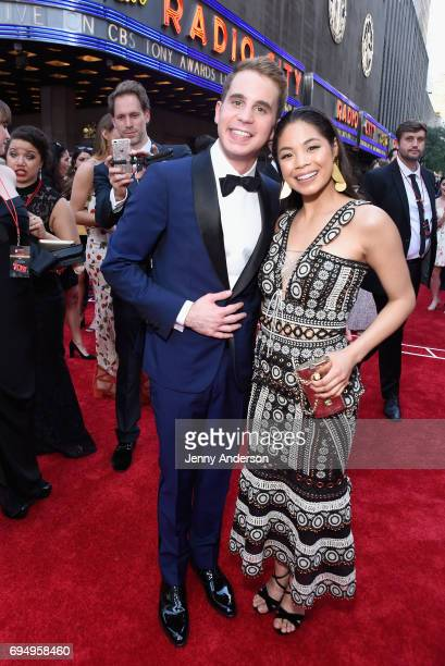 Actors Ben Platt and Eva Noblezada attend the 2017 Tony Awards at Radio City Music Hall on June 11 2017 in New York City