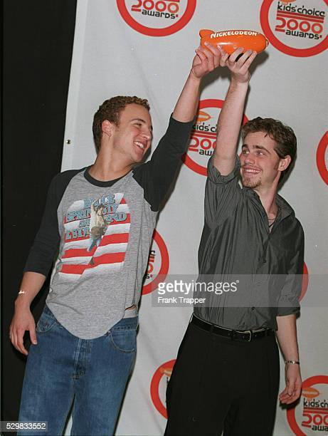 Actors Ben Savage and Rider Strong of the series 'Boy Meets World' with their awards