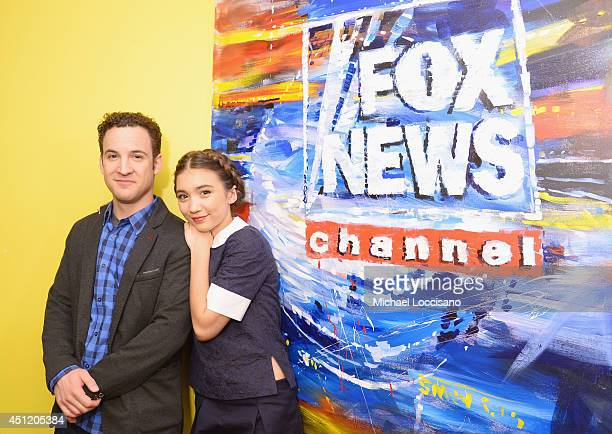 Actors Ben Savage and Rowan Blanchard appear on 'Fox And Friends' at FOX Studios on June 25 2014 in New York City