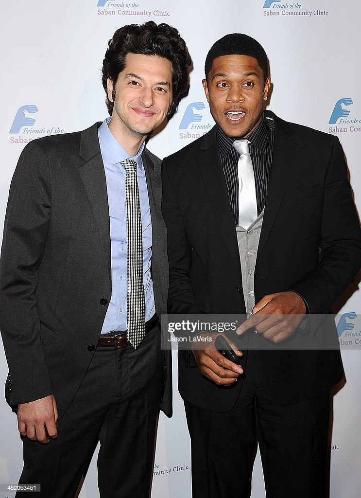 Actors Ben Schwartz and <a gi-track='captionPersonalityLinkClicked' href=/galleries/search?phrase=Pooch+Hall&family=editorial&specificpeople=879951 ng-click='$event.stopPropagation()'>Pooch Hall</a> attend Saban Community Clinic's 37th annual benefit gala at The Beverly Hilton Hotel on November 25, 2013 in Beverly Hills, California.