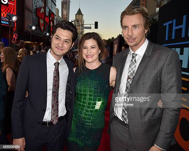 Actors Ben Schwartz Katherine Hahn and Dax Shepard arrive at the premiere of Warner Bros Pictures' 'This Is Where I Leave You' at TCL Chinese Theatre...
