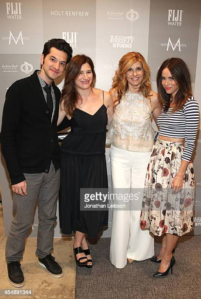 Actors Ben Schwartz Kathryn Hahn Connie Britton and Abigail Spencer attend the Variety Studio presented by Moroccanoil at Holt Renfrew during the...