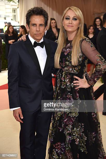 Actors Ben Stiller and Christine Taylor attend the 'Manus x Machina Fashion In An Age Of Technology' Costume Institute Gala at Metropolitan Museum of...