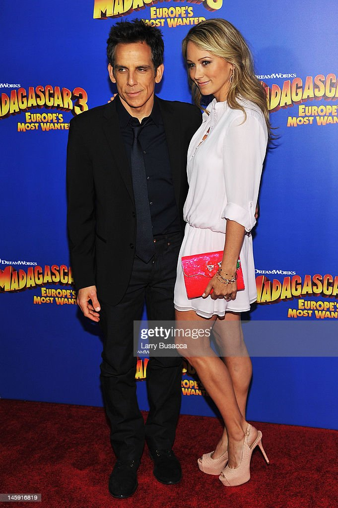 Actors <a gi-track='captionPersonalityLinkClicked' href=/galleries/search?phrase=Ben+Stiller&family=editorial&specificpeople=201806 ng-click='$event.stopPropagation()'>Ben Stiller</a> and <a gi-track='captionPersonalityLinkClicked' href=/galleries/search?phrase=Christine+Taylor&family=editorial&specificpeople=201985 ng-click='$event.stopPropagation()'>Christine Taylor</a> attends the 'Madagascar 3: Europe's Most Wanted' New York Premier at Ziegfeld Theatre on June 7, 2012 in New York City.