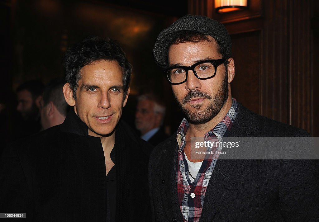 Actors <a gi-track='captionPersonalityLinkClicked' href=/galleries/search?phrase=Ben+Stiller&family=editorial&specificpeople=201806 ng-click='$event.stopPropagation()'>Ben Stiller</a> and <a gi-track='captionPersonalityLinkClicked' href=/galleries/search?phrase=Jeremy+Piven&family=editorial&specificpeople=206338 ng-click='$event.stopPropagation()'>Jeremy Piven</a> (R) attend The Cinema Society With Chrysler & Bally Host The Premiere Of 'Stand Up Guys' After Party at The Plaza Hotel on December 9, 2012 in New York City.