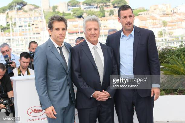 Actors Ben Stiller Dustin Hoffman and Adam Sandler attend the 'The Meyerowitz Stories' Photocall during the 70th annual Cannes Film Festival at...