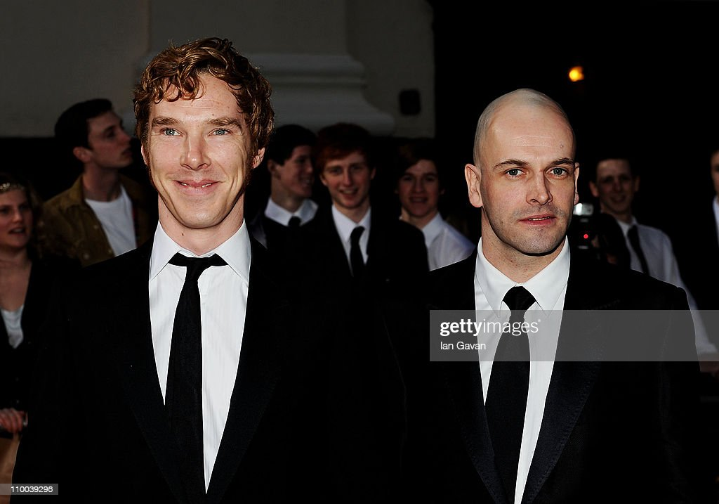 Actors <a gi-track='captionPersonalityLinkClicked' href=/galleries/search?phrase=Benedict+Cumberbatch&family=editorial&specificpeople=2487879 ng-click='$event.stopPropagation()'>Benedict Cumberbatch</a> (L) and Jonny Lee Miller attend The Olivier Awards 2011 at Theatre Royal on March 13, 2011 in London, England.