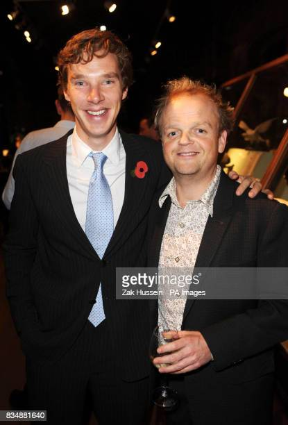 Actors Benedict Cumberbatch and Toby Jones attend the Victorianthemed VIP preview of Darwin at the Natural History Museum in south west London