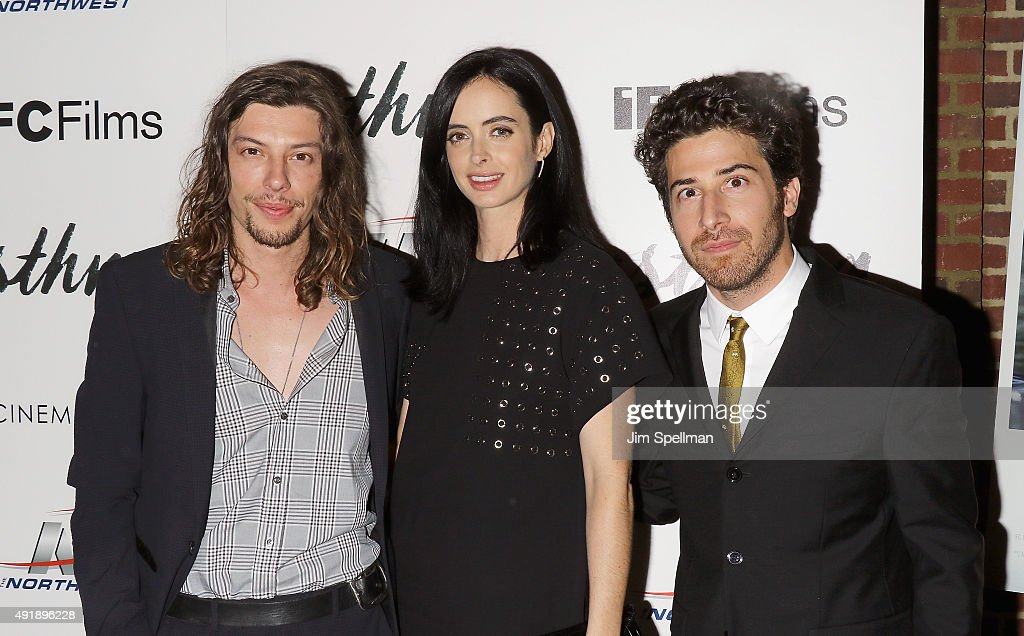 Actors Benedict Samuel, Krysten Ritter and director Jake Hoffman attend the screening of IFC Films' Asthma hosted by The Cinema Society and Northwest at the The Roxy Hotel on October 8, 2015 in New York City.