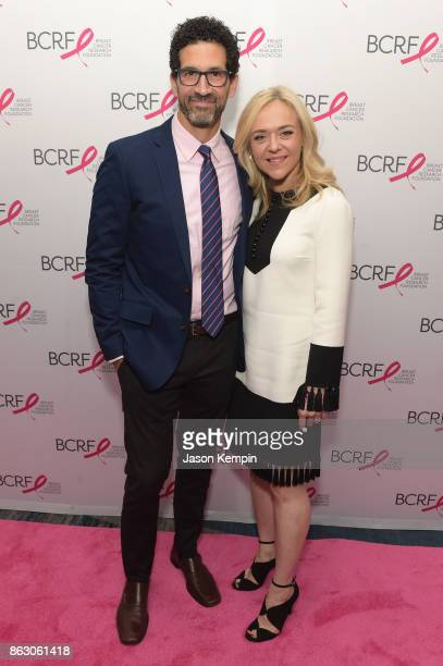 Actors Benim Foster ans Rachel Bay Jones arrive at the Breast Cancer Research Foundation New York Symposium and Awards Luncheon at New York Hilton on...